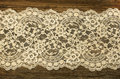 Old boards covered with lace beautiful Stock Photography