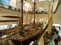 Old boat in Deutsches Museum, the world`s largest of science and technology in Munich Royalty Free Stock Photo