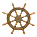 Old boat steering wheel Royalty Free Stock Photo