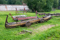 Old boats resting on the shore Royalty Free Stock Photo
