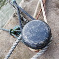 Old bollard at the pier Royalty Free Stock Photography