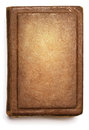 Old book cover, blank texture empty grunge design on white Royalty Free Stock Photo