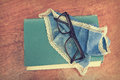 Old book and glasses Stock Photography
