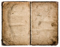 Old book isolated on white. Grungy worn paper texture Royalty Free Stock Photo