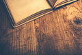 Old book on library desk Royalty Free Stock Photo