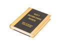 Old book with a mans instructional manual concept title Royalty Free Stock Photo