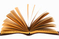 Old book open Royalty Free Stock Photo