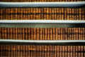 Old books in an ancient library Royalty Free Stock Photo