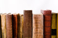 Old books backs on white Stock Photography