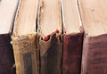 Old books covers close up Stock Images