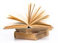 Old books piled together Royalty Free Stock Photo