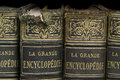Old books on shelf Royalty Free Stock Photo