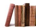 Old books on white backgound Stock Photos