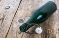 Old bottle of green glass Royalty Free Stock Photo