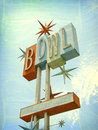 Old bowling alley sign Royalty Free Stock Photo