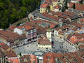 Old Brasov in Romania Stock Photo