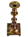 Old Brass Candlestick on a White Background Royalty Free Stock Photo