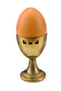 Old brass egg cup Stock Images