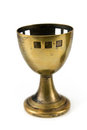 Old brass egg cup Stock Image