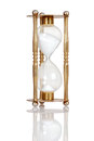 Old brass hourglass Royalty Free Stock Photo