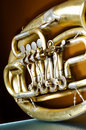 An old brass instrument Royalty Free Stock Images