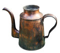 Old brass kettle Stock Images