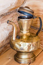 Old brass lamp in the kitchen of a private house Stock Photography