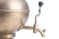 Old brass samovar isolated on a white background Royalty Free Stock Photo