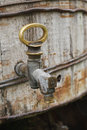Old brass tap Royalty Free Stock Photos