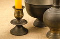 Old brass ware Royalty Free Stock Photo