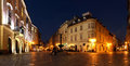 Old bratislava at twilight street of the town of on the right is rococo erdody palace with a pub and restaurant where find Royalty Free Stock Images
