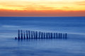 Old breakwaters Royalty Free Stock Photo