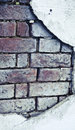 Old brick broken  wall Royalty Free Stock Photo