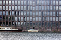 Old brick building the photograph of an with offices on the river spree in berlin Stock Photography