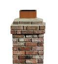 Old Brick Chimney Isolated.