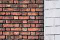 Old brick and concrete wall Royalty Free Stock Photo