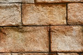 Old brick or concrete wall close up of a looking stone Royalty Free Stock Image
