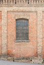 Old brick house and window Royalty Free Stock Photo