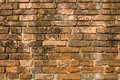 Old brick layer on the wall grunge background Stock Photos