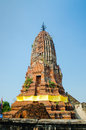 Old brick pagoda thailand blue sky Stock Photography