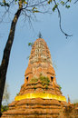 Old brick pagoda thailand blue sky Stock Images