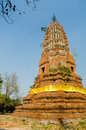 Old brick pagoda thailand blue sky Royalty Free Stock Photo