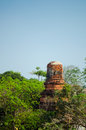 Old brick pagoda thailand blue sky Royalty Free Stock Photos