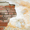 Old brick and plaster wall Stock Image