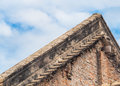 Old brick roof of an Old Building Royalty Free Stock Photo