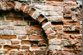 Old brick wall with arch Stock Photography