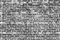 Old brick wall background. Grunge texture. Black wallpaper. Royalty Free Stock Photo