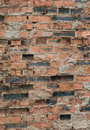Old brick wall background of red bricks Stock Photo