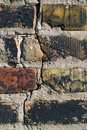 Old brick wall closeup Royalty Free Stock Image