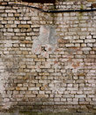 Old brick wall with cracks Royalty Free Stock Photo